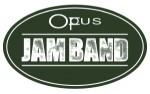 OpusJamBand logo solid green